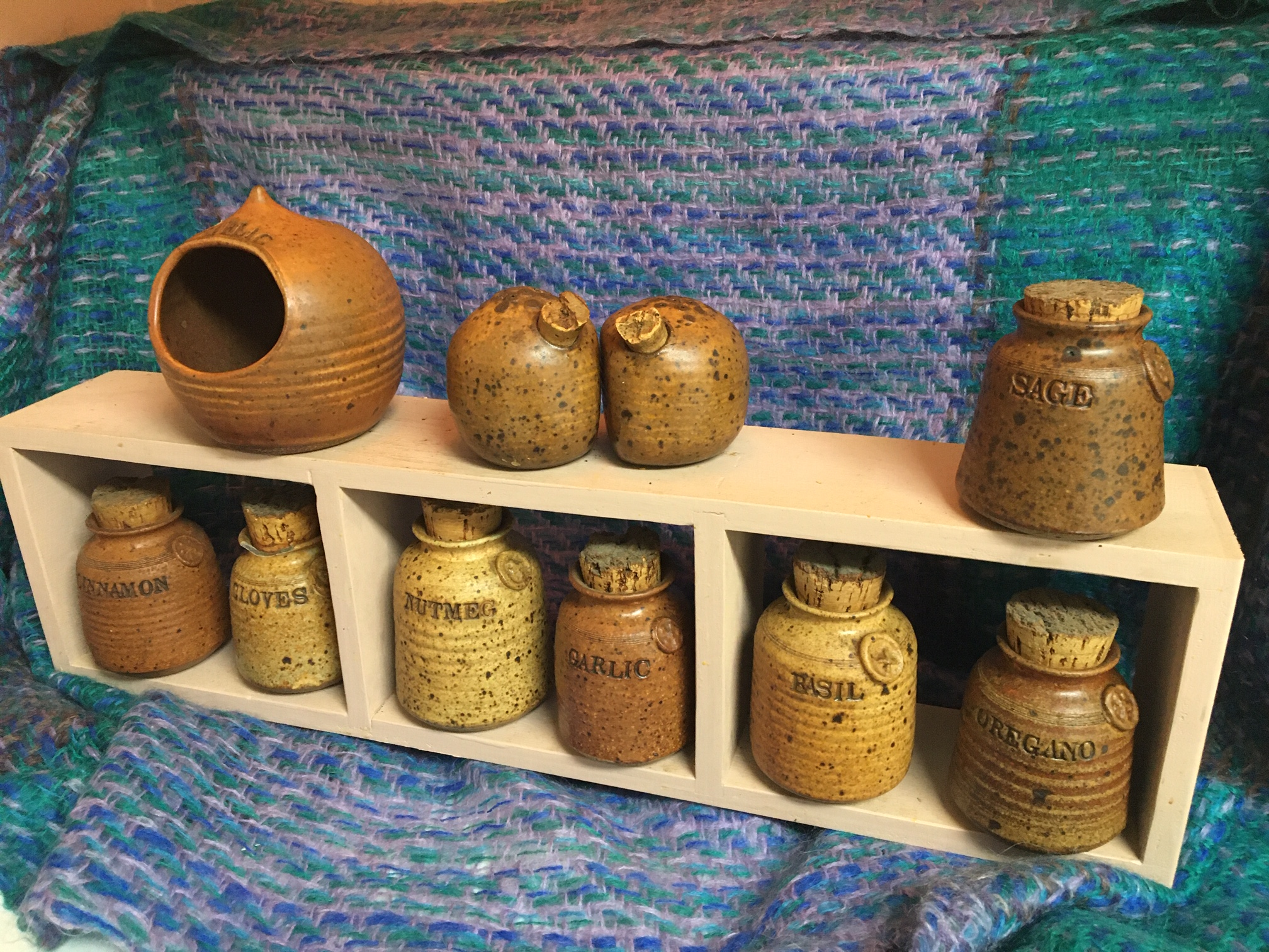 CarolGraham garlic and spice containers